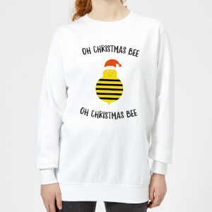 Oh Christmas Bee Oh Christmas Bee Women's Christmas Sweatshirt - White