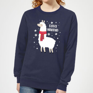 Fleece Navidad Women's Christmas Sweatshirt - Navy