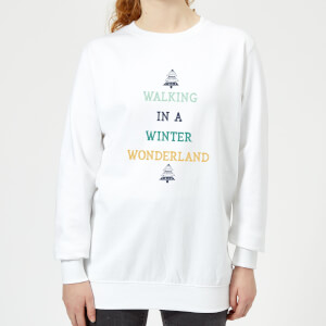 Walking In A Winter Wonderland Women's Christmas Sweatshirt - White