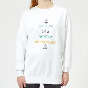 Walking In A Winter Wonderland Women's Christmas Sweatshirt - White