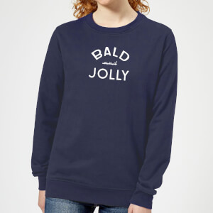 Bald and Jolly Women's Christmas Sweatshirt - Navy