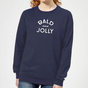 Pull de Noël Femme Bald and Jolly - Bleu Marine