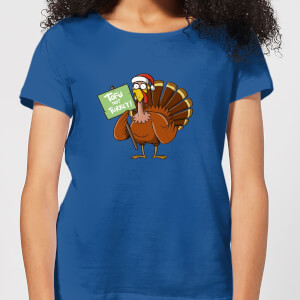 Tofu Not Turkey Women's Christmas T-Shirt - Royal Blue