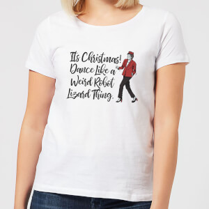 Its Christmas, Dance Like A Weird Robot Women's Christmas T-Shirt - White