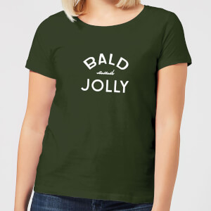 Bald and Jolly Women's Christmas T-Shirt - forest Green