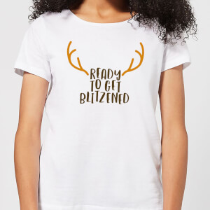 Ready To Get Blitzened Women's Christmas T-Shirt - White
