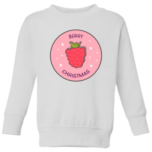 Berry Christmas Kids' Christmas Sweatshirt - White