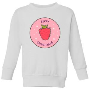 Berry Christmas Kids' Christmas Sweatshirt - White