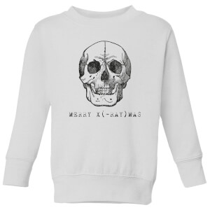Merry X(-Ray) Mas Kids' Christmas Sweatshirt - White