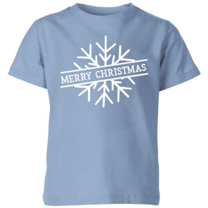 Merry Christmas Kids' Christmas T-Shirt - Sky Blue