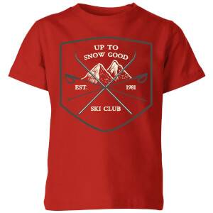 Up To Snow Good Kids' Christmas T-Shirt - Red