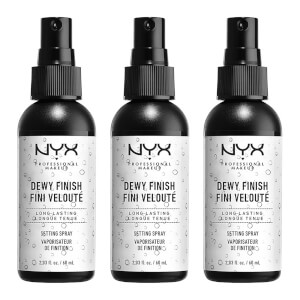 NYX Professional Makeup Dewy Setting Spray x 3 (Worth £21.00)
