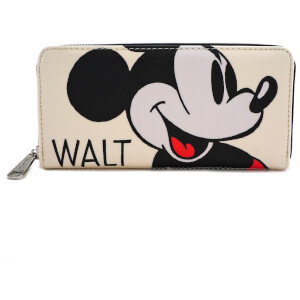 Disney Loungefly Cartera Con Cremallera Retrato Mickey Mouse