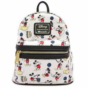 Mini Sac A Dos blanc Imprimé Mickey Mouse - Loungefly Disney