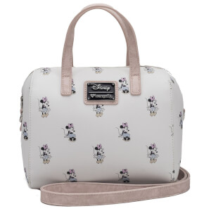 Loungefly Disney Mickey Mouse Minnie Aop Duffle Bag - Cream