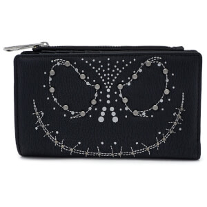Loungefly Disney - Portafoglio con Cerniera e Borchie Jack (Nightmare Before Christmas)