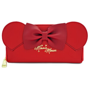 Loungefly Disney - Portafoglio con cerniera Minnie - Rosso