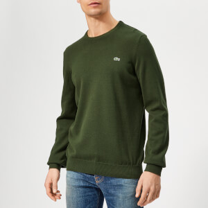 Lacoste Men's Classic Cotton Crew Knit Jumper - Khaki