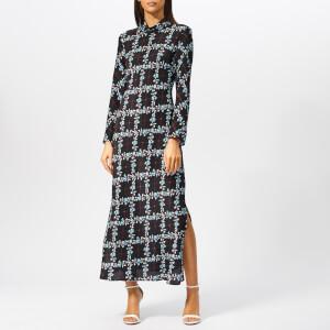 RIXO Women's Baxter Lattice Floral Maxi Dress - Black
