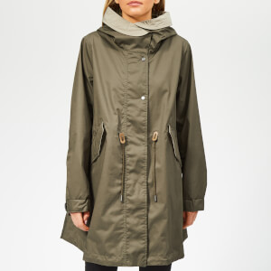 Woolrich Women's Fairview Waterproof Mac with Hood - Tropical Green