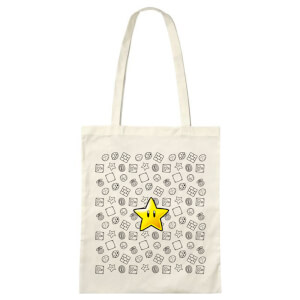 Super Mario Invincible Star Tote Bag