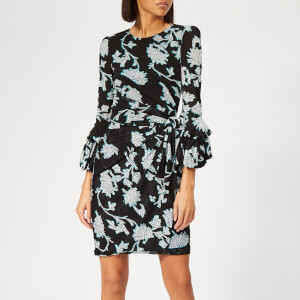 Diane von Furstenberg Women's Faridah Dress - Sequin Flower Black