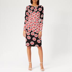 Diane von Furstenberg Women's Soluck Dress - Kimono Blossom Black