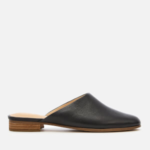 Clarks Women's Pure Blush Leather Mules - Black