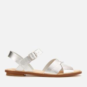 Clarks Women's Willow Gild Leather Sandals - Silver Metallic