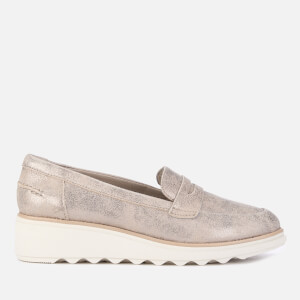 Clarks Women's Sharon Ranch Suede Loafers - Pewter