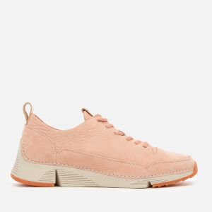 Clarks Women's Tri Spark Nubuck Trainers - Light Pink