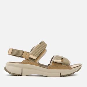 Clarks Women's Tri Walk Combi Sandals - Khaki Combi