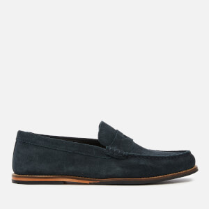 Clarks Men's Whitley Free Suede Loafers - Navy