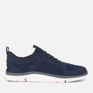 Clarks Men's Triken Run Mesh Trainers - Navy Combi
