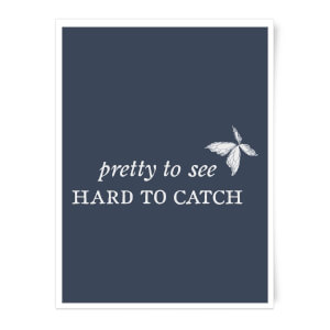 Pretty To See, Hard To Catch Art Print
