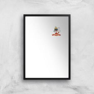 Christmas Fox Pocket Art Print