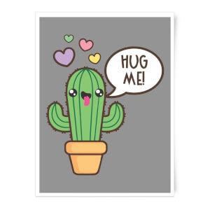 Hug Me Cactus Art Print