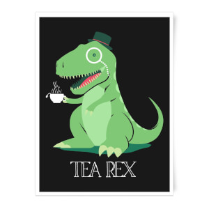 Tea Rex Art Print