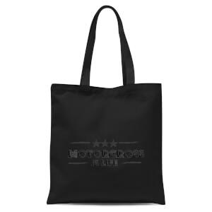 Motocross Is Life Tote Bag - Black