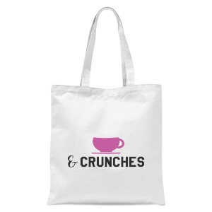 Coffee and Crunches Tote Bag - White