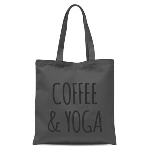 Coffee and Yoga Tote Bag - Grey