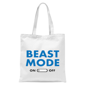Beast Mode On Tote Bag - White