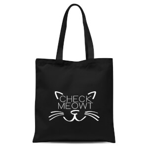 Check Meowt Tote Bag - Black