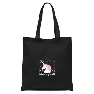 Believe In Yourself Tote Bag - Black