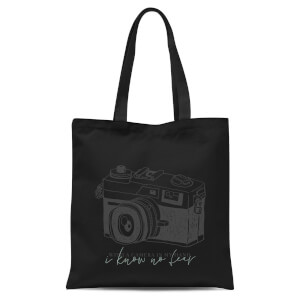 With A Camera In My Hand, I Know No Fear Tote Bag - Black