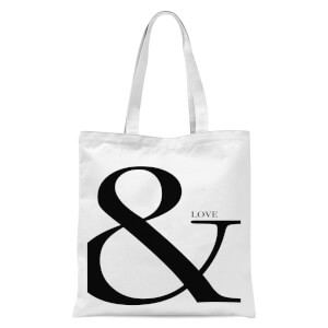 & Love Tote Bag - White