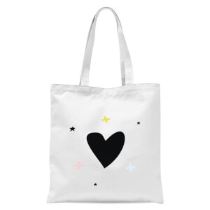 Hearts and Crosses Tote Bag - White