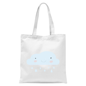 Rain Cloud Tote Bag - White