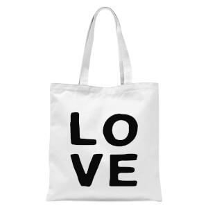 Love Tote Bag - White