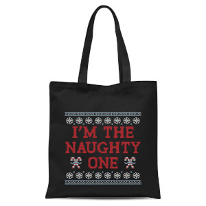 Im The Naughty One Tote Bag - Black